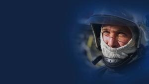 illustration visage de sapeur-pompier sur fond bleu
