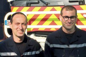 Lieutenant-colonel Alain Rebaudo et adjudant David Lichigaray CIS SAINT-BRIAC