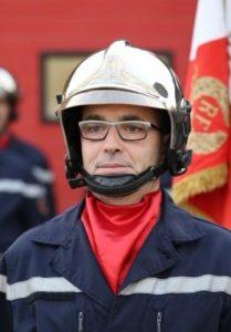 Jean-Philippe Grimault, chef du CIS Domalain